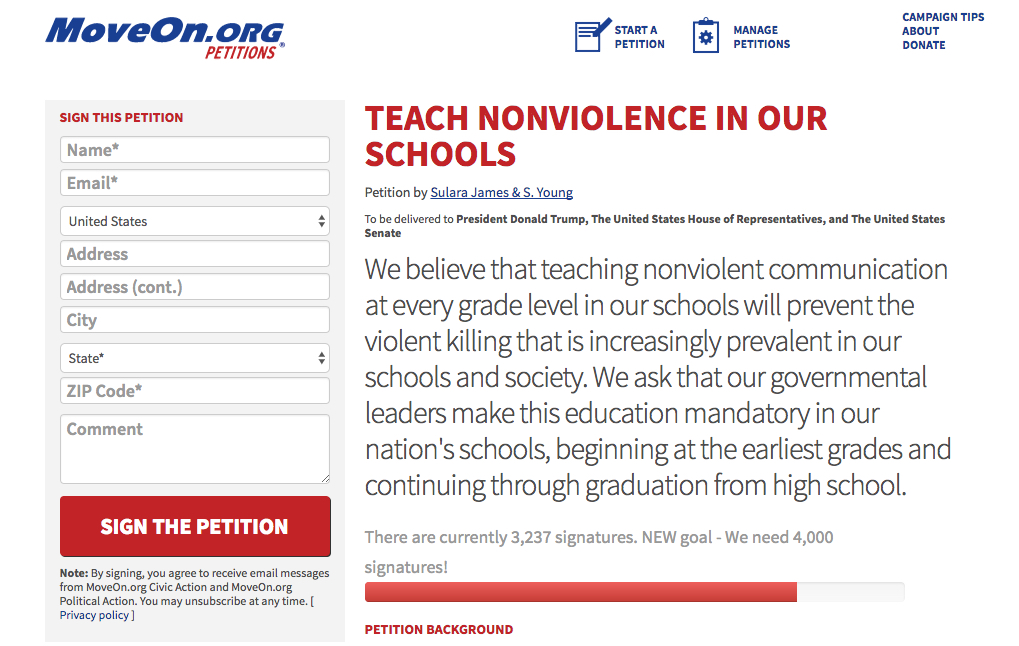 MoveOn.org petition - opens in a new window