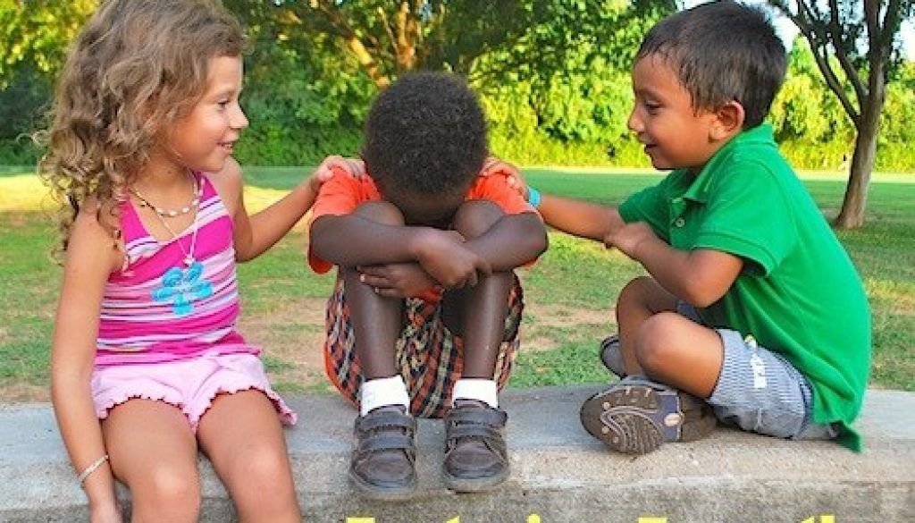 kids giving empathy to other kid